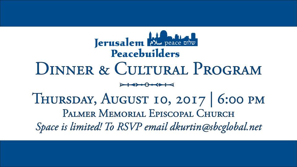Jerusalem Peacebuilders Dinner