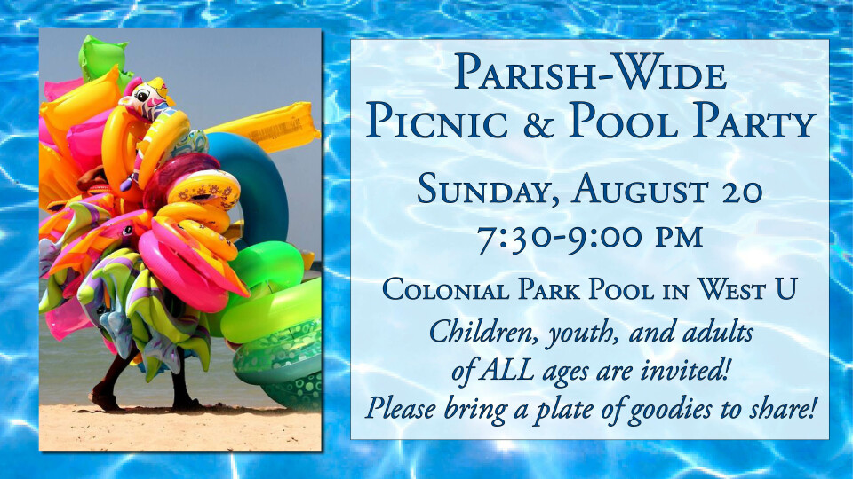 Parish-Wide Picnic & Pool Party