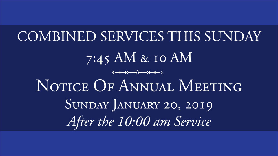 Annual Meeting | Palmer Memorial Episcopal Church