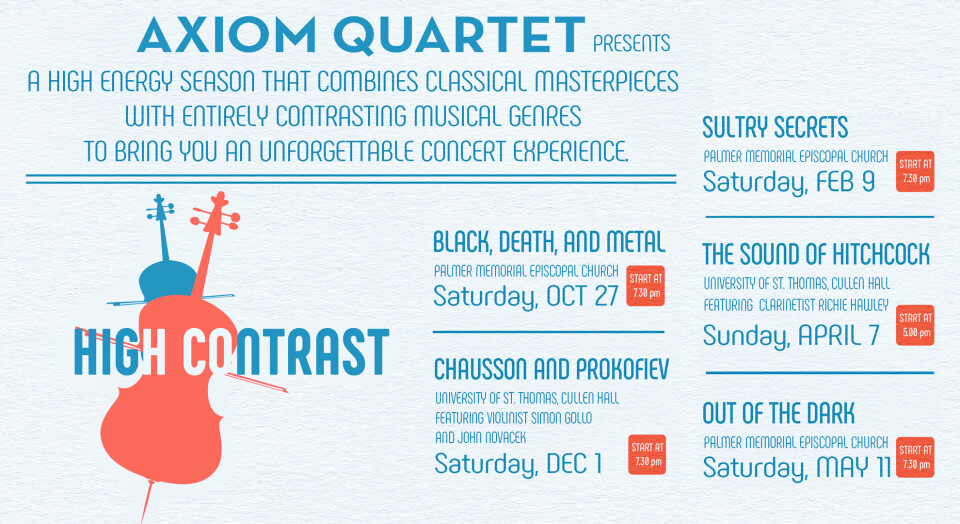 Axiom String Quartet Concert Series - Black, Death, and Metal