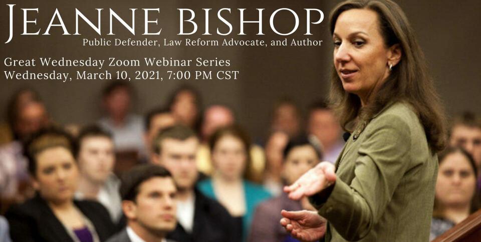 Great Wednesday Online Webinar with Jeanne Bishop